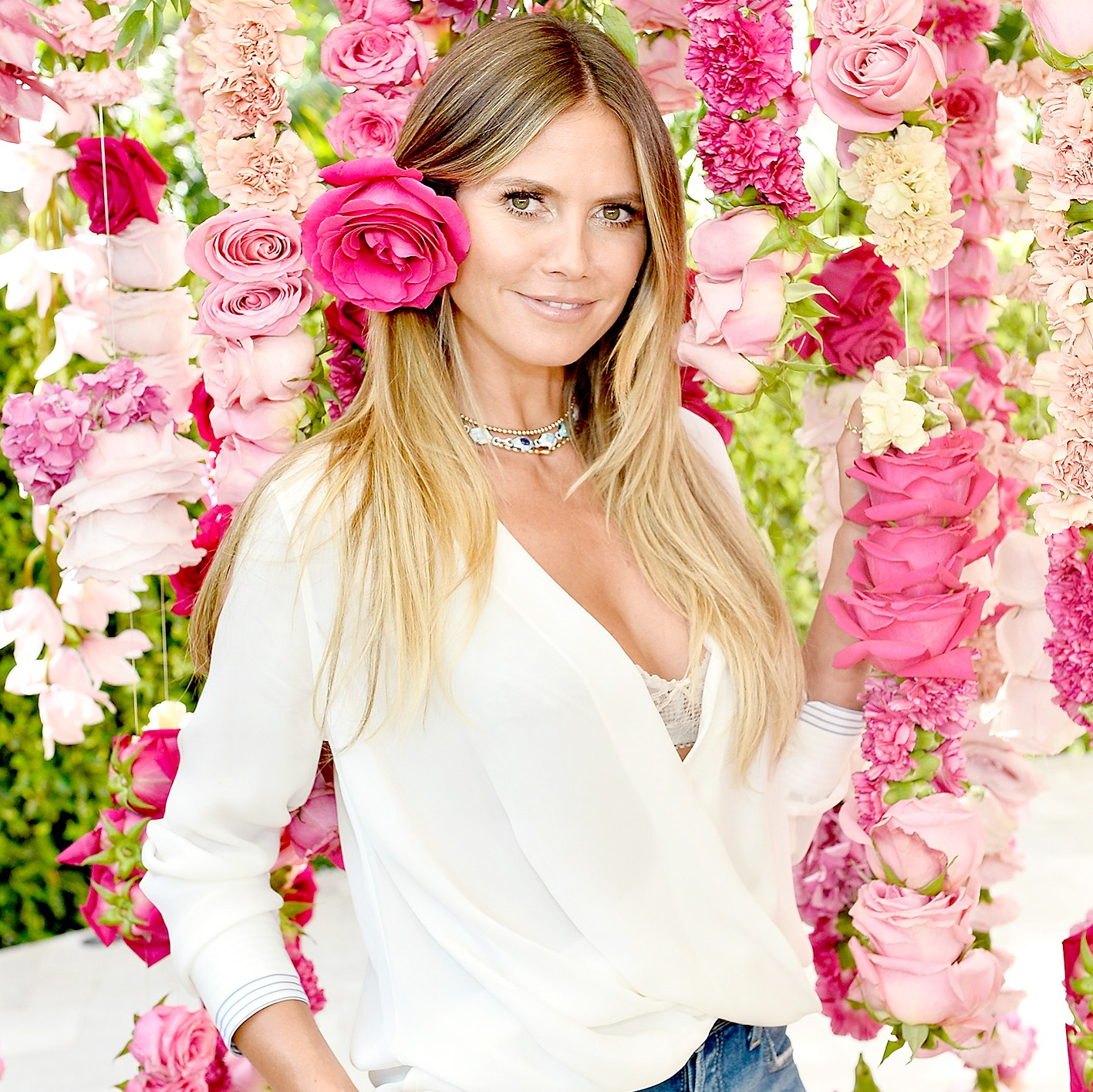 Heidi Klum Unveils Latest Heidi Klum Intimates Campaign at Bra Brunch in Los Angeles at Hotel Bel-Air on August 17, 2017 in Los Angeles, California.