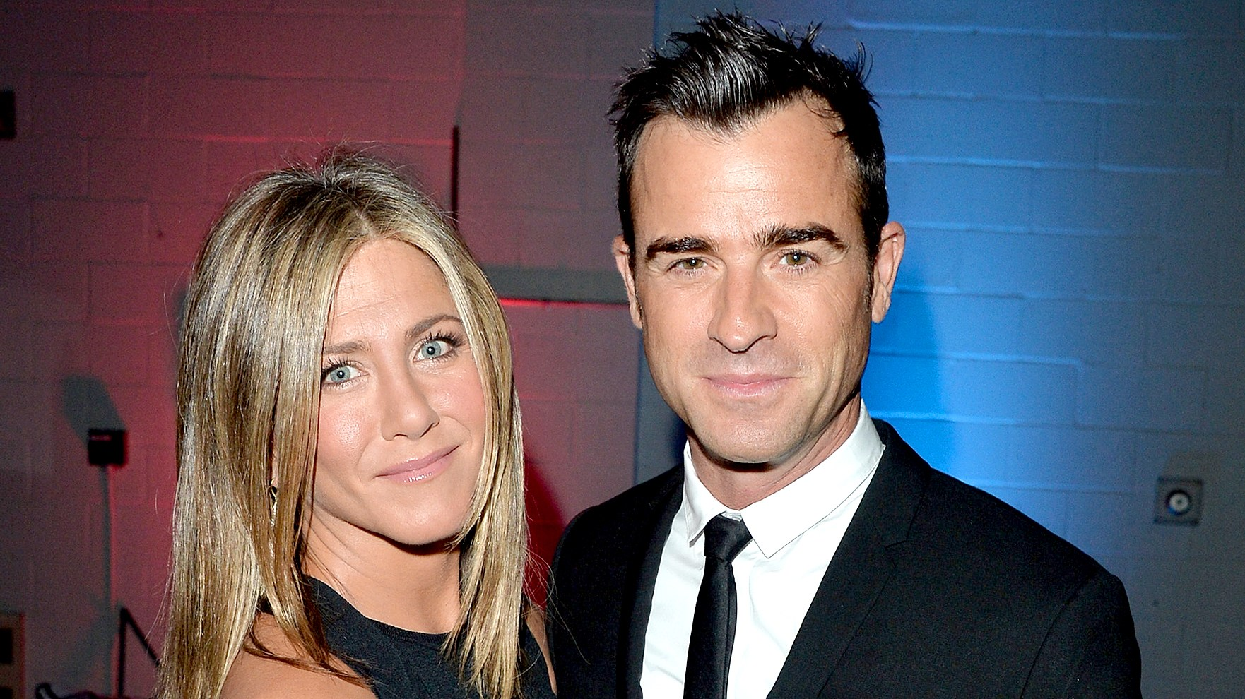 """Jennifer Aniston and Justin Theroux attend the """"Cake"""" premiere during the 2014 Toronto International Film Festival."""