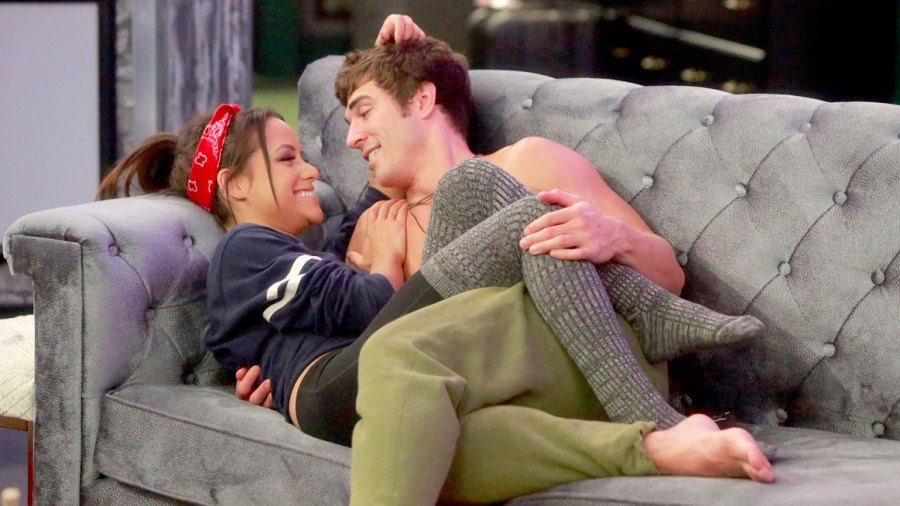 Jessica Graf and Cody Nickson in the Big Brother house.