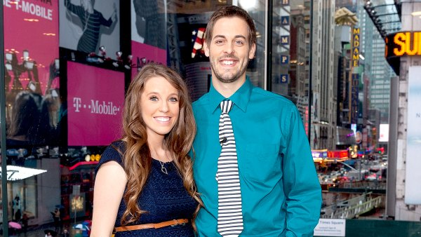 "Jill Duggar Dillard and Derick Dillard visit ""Extra"" at their New York studios at H&M in Times Square on October 23, 2014 in New York City."