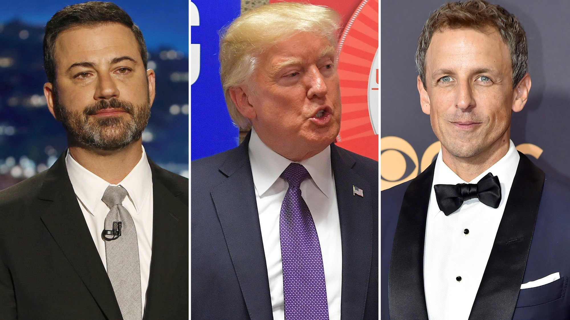 Jimmy Kimmel, Donald Trump, Seth Meyers