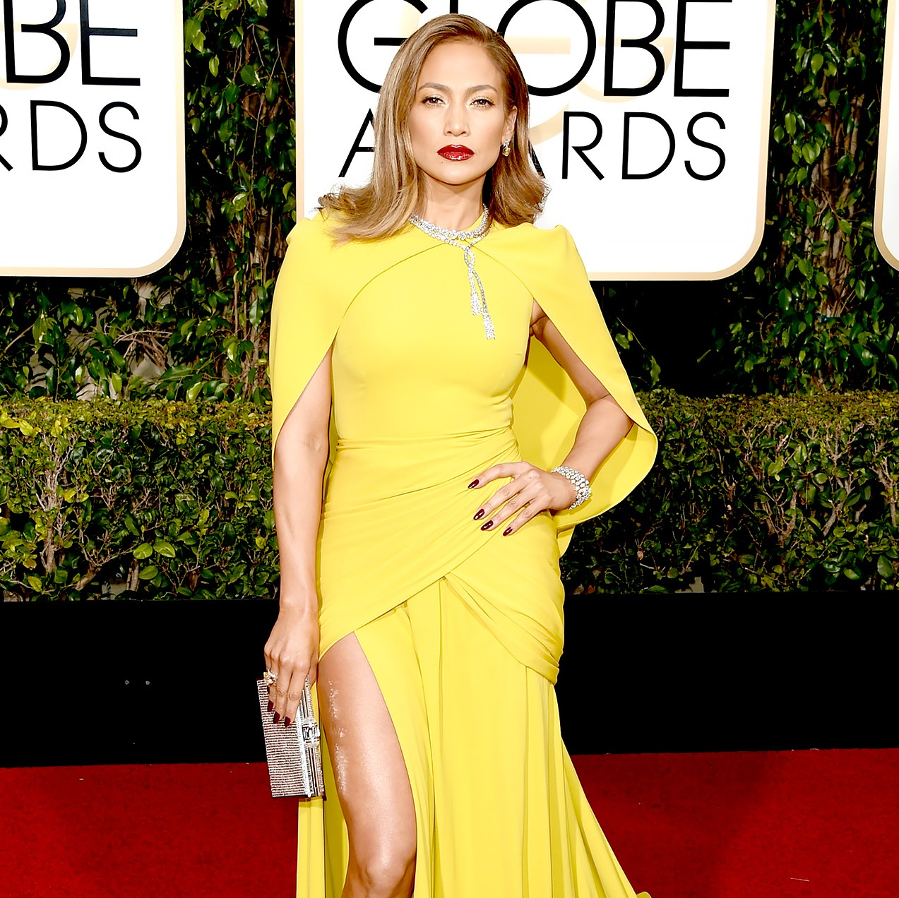Jennifer Lopez attends the 73rd Annual Golden Globe Awards.