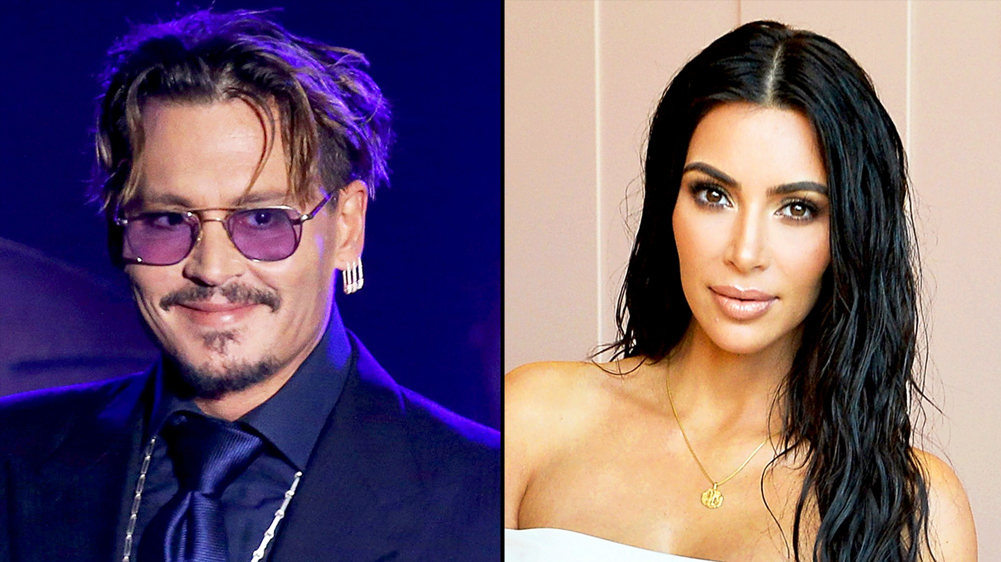 Johnny Depp and Kim Kardashian