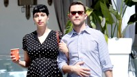 Joseph Gordon-Levitt is spotted walking arm in arm with his pregnant wife Tasha McCauley after enjoying lunch together at Comoncy in Beverly Hills, California in May 2017.