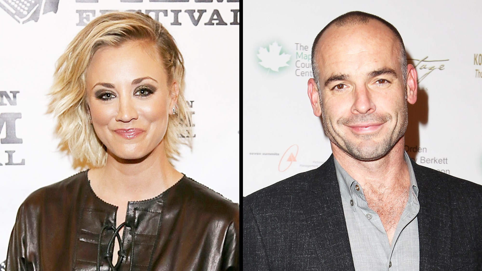 Kaley Cuoco and Paul Blackthorne