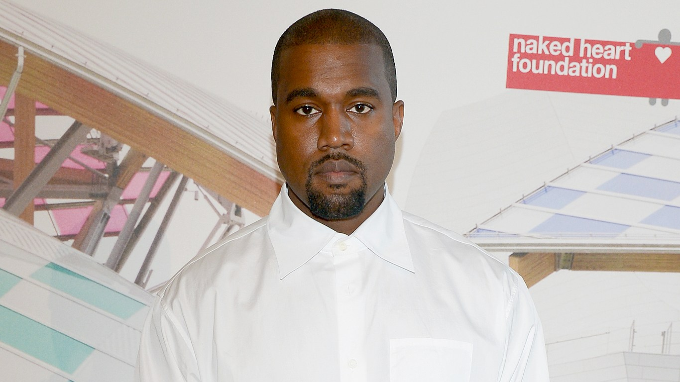 "Kanye West attends the ""The Art of Giving"" Love Ball Naked Heart Foundation Photo Call as part of Paris Fashion Week Haute Couture Fall/Winter 2016-2017 on July 6, 2016 in Paris, France."