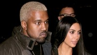 Kanye West and Kim Kardashian West are seen on February 14, 2017 in New York City.