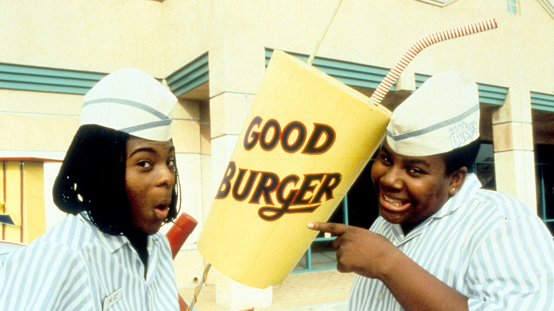 Kel Mitchell and Kenan Thompson in 'Good Burger', 1997.