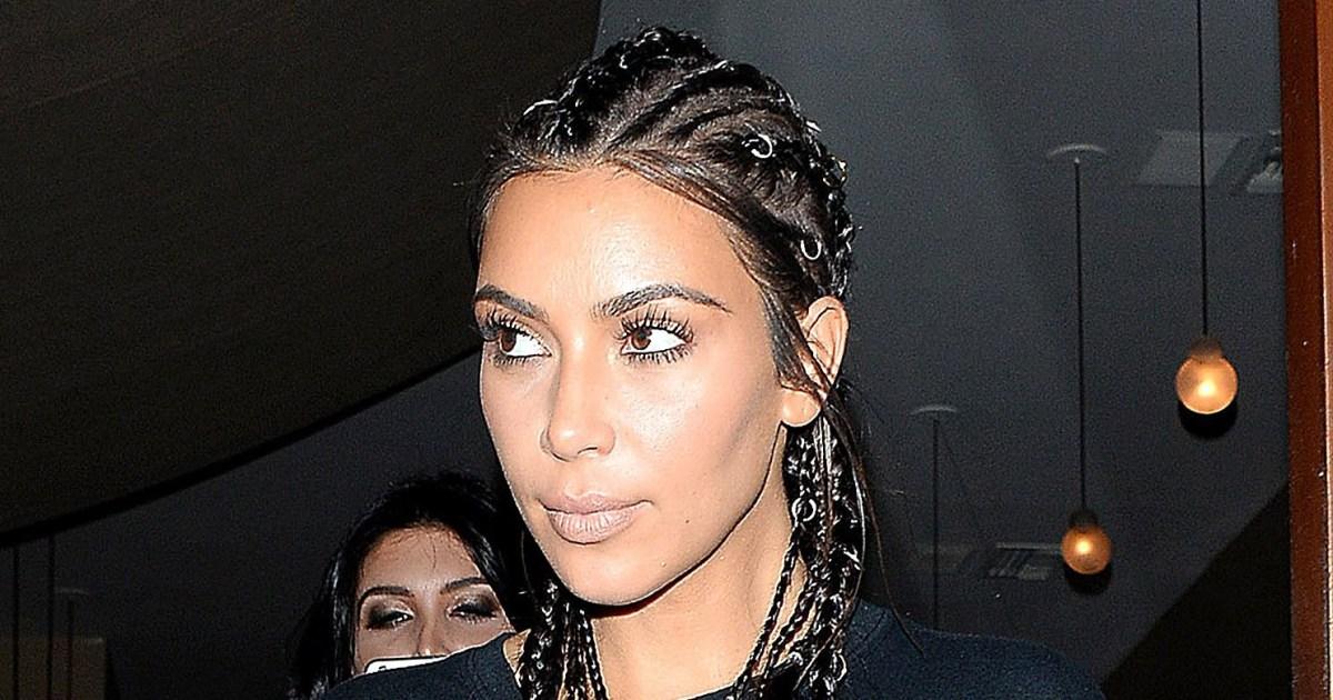 Kim Kardashian Wore Cornrows See Her Hair Makeover