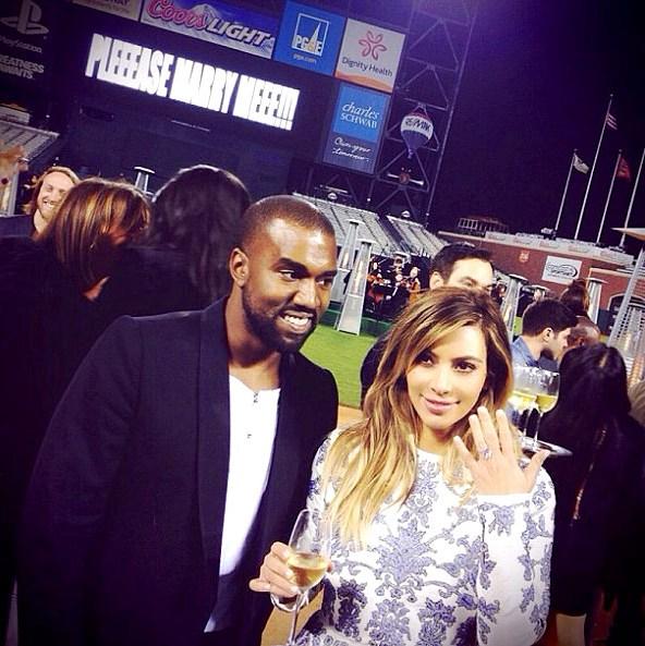 Kim Kardashian Kanye West proposal