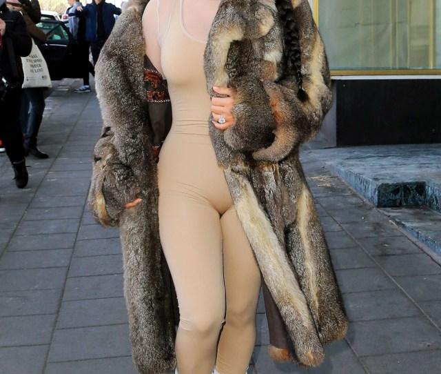 Kim Kardashian Visiting Iceland In A Nude Bodysuit Splash News Online