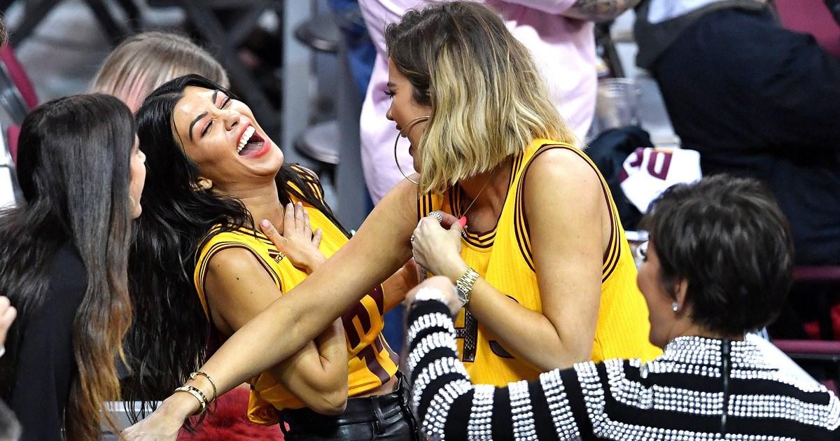 Khloe Kardashian Cheers on Tristan Thompson at NBA Finals Game 4