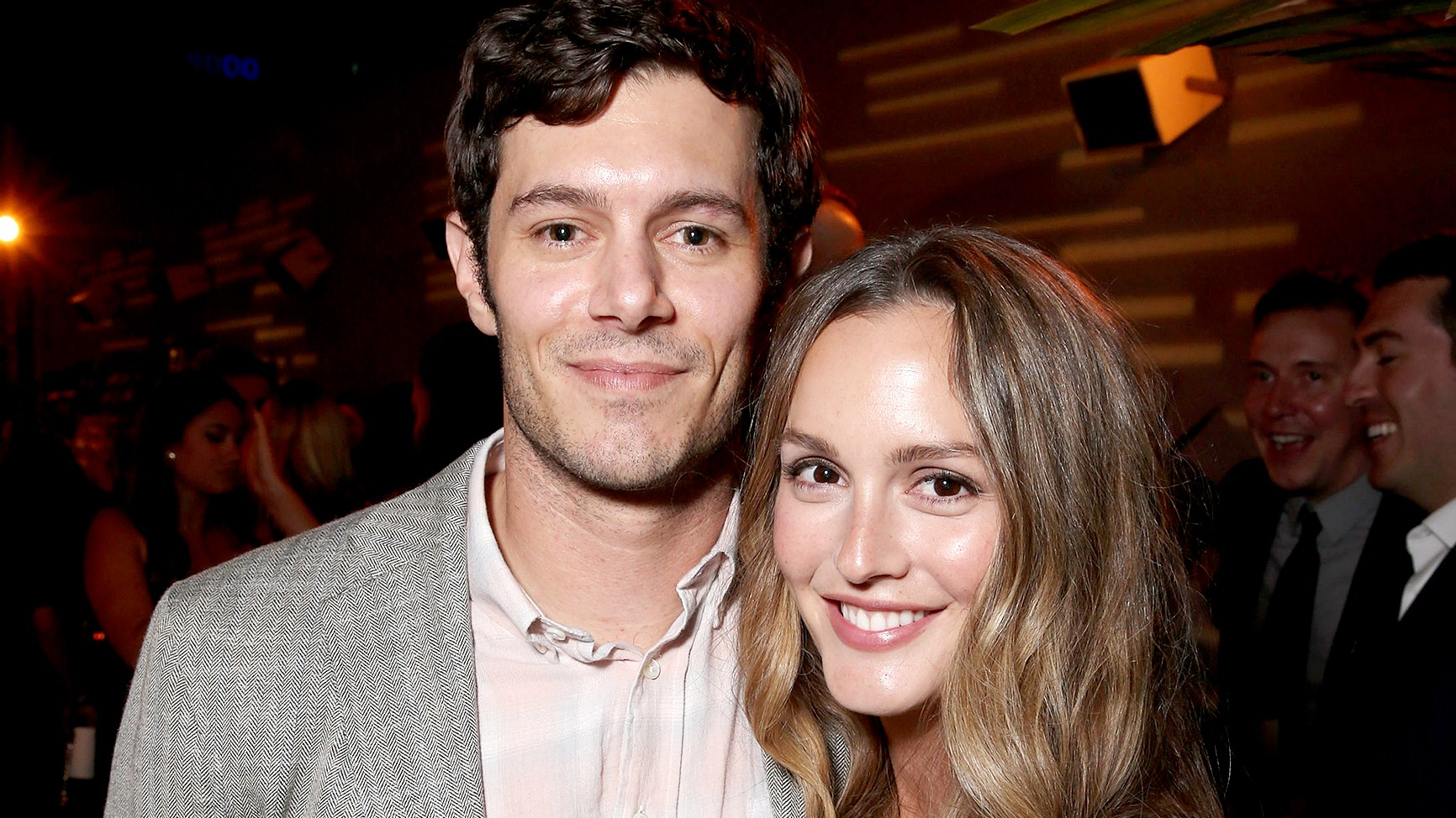 "Adam Brody and Leighton Meester attend the after party for the premiere pf Crackle's ""Startup"" on August 23, 2016 in Los Angeles, California."