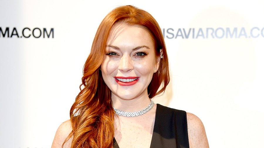 Lindsay Lohan walks the red carpet of Firenze4ever 14th Edition Party hosted by LuisaViaRoma on January 9, 2017 in Florence, Italy.