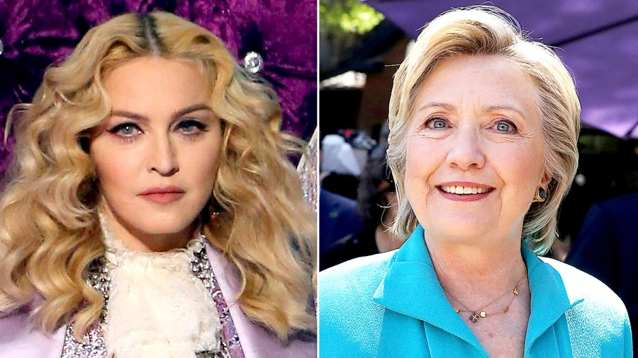 Madonna and Hillary Clinton
