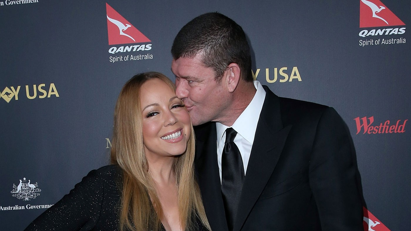 Mariah Carey and James Packer attend the 2016 G'Day Los Angeles Gala