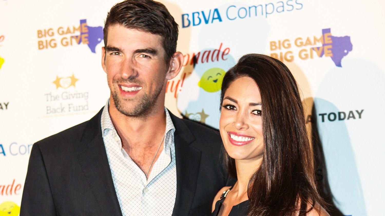 Michael and Nicole Phelps in Houston