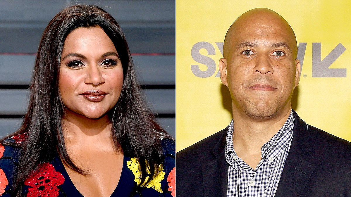 Mindy Kaling and Cory Booker