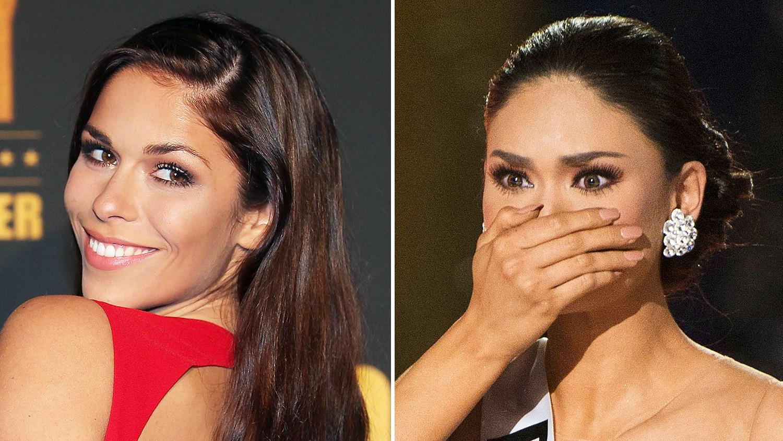 Miss Germany Sarah-Lorraine Riek and Miss Philippines Pia Alonzo Wurtzbach