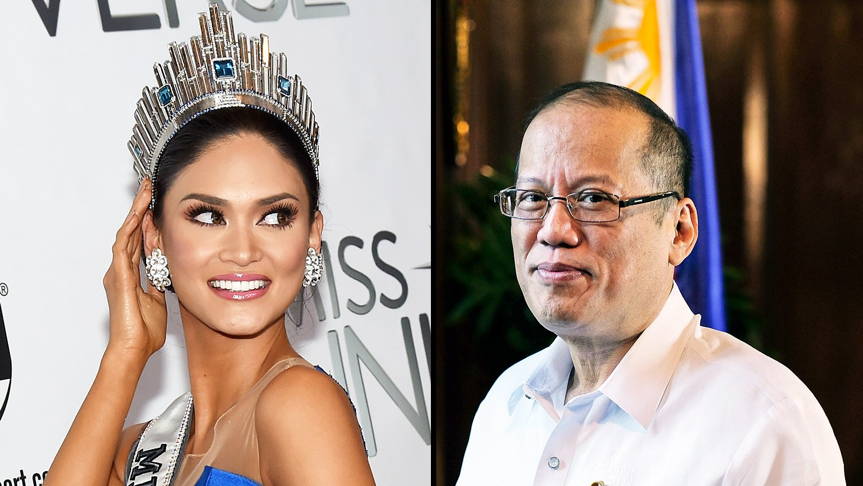 Miss Philippines 2015, Pia Alonzo Wurtzbach, and Philippine President Benigno Aquino