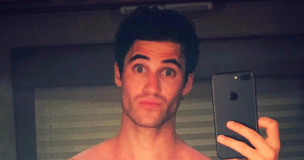 Darren Criss Teases Fans With Basically Naked Mirror Selfie-9261