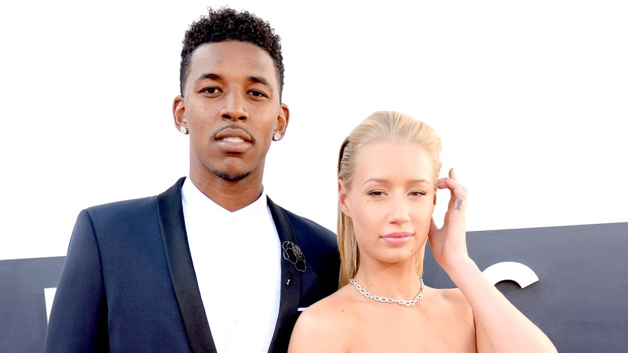 Nick Young and Iggy Azalea attend the 2014 MTV Video Music Awards.