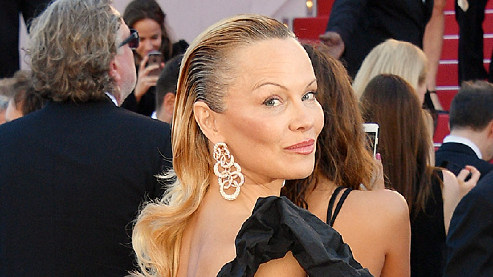 pamela anderson looks unrecognizable at cannes film festival: photos
