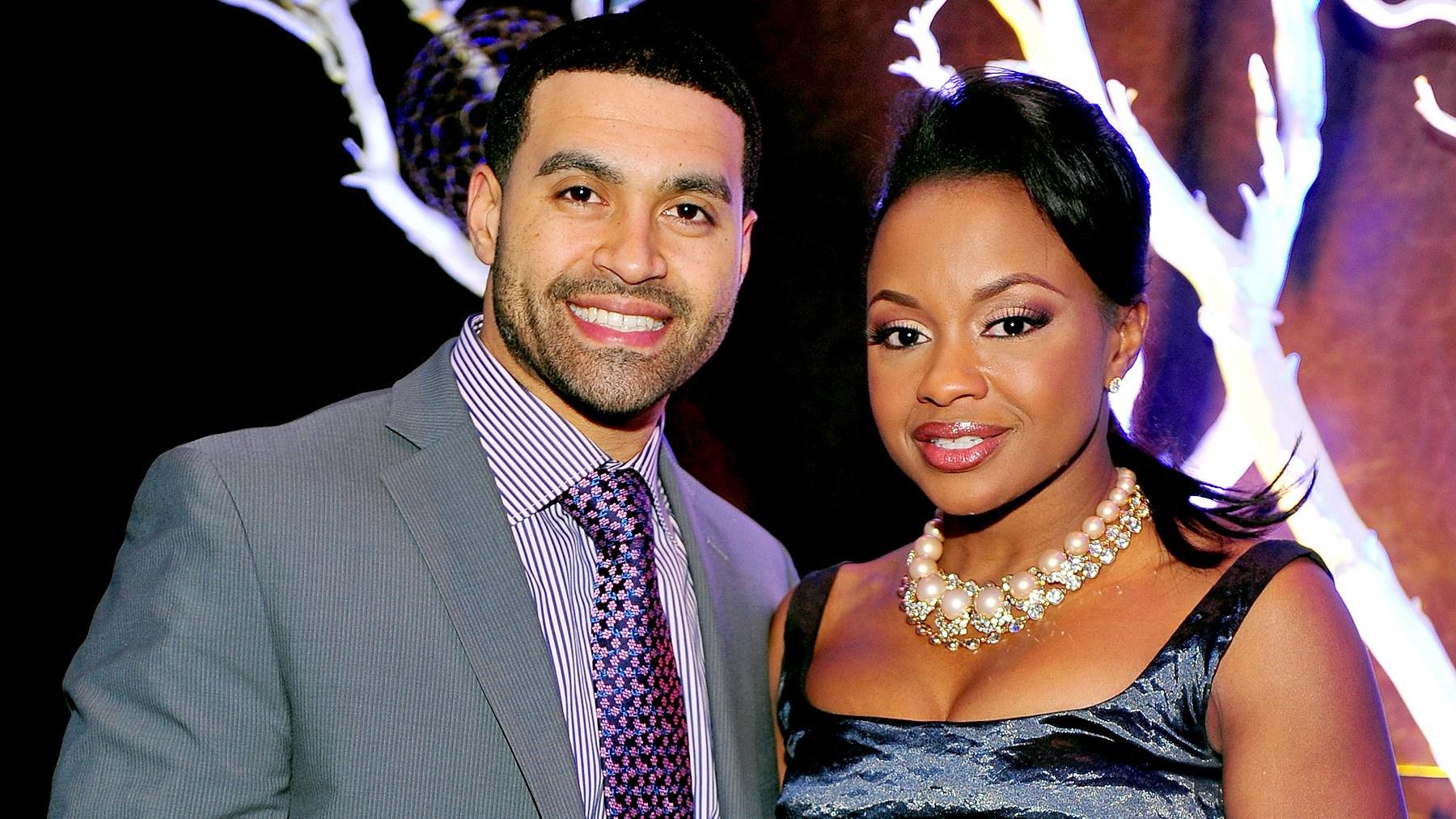 Apollo Nida and Phaedra Parks attend the Captain Planet Foundation Annual benefit gala at the Georgia Aquarium on December 9, 2011 in Atlanta, Georgia.