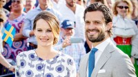 Prince Carl Philip of Sweden and Princess Sofia of Sweden attend the Victoria day celebration on the occasion of The Crown Princess Victoria of Sweden's 40th birthday celebrations at stadion on July 14, 2017 in Borgholm, Sweden.