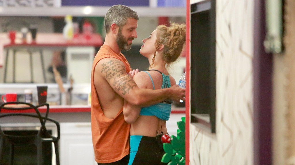 Matthew Clines and Raven Walton in the Big Brother house.
