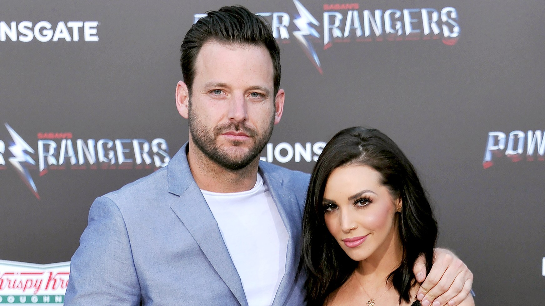 "Robert Valletta and Scheana Marie Shay arrive at the premiere of Lionsgate's ""Power Rangers"" at The Village Theatre on March 22, 2017 in Westwood, California."