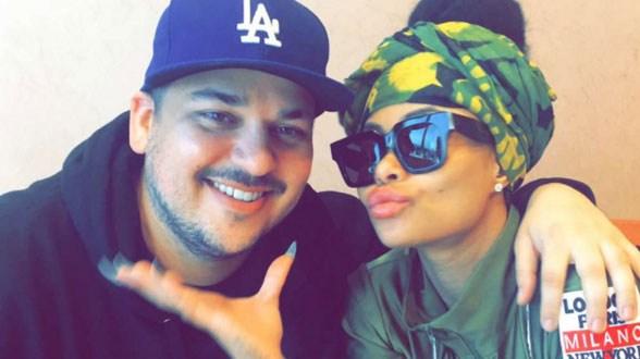 Rob Kardashian and Blac Chyna look happy on Snapchat