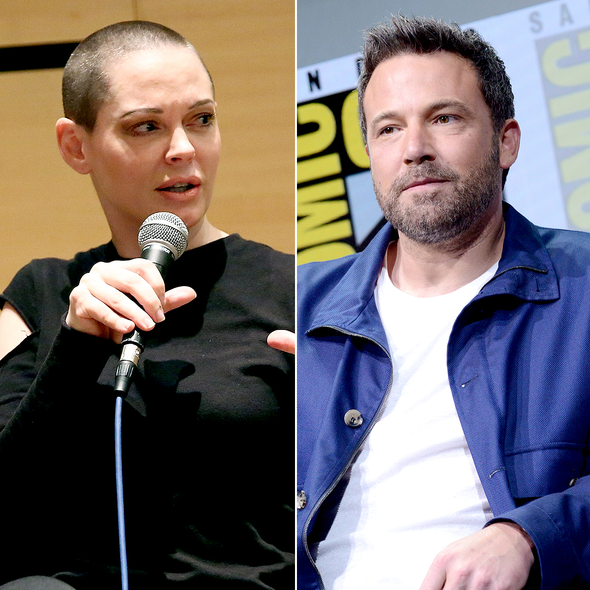 Rose McGowan and Ben Affleck