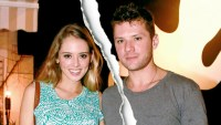 Paulina Slagter and Ryan Phillippe pose for a photo at Salt and Pepper on January 1, 2014 in Miami, Florida.