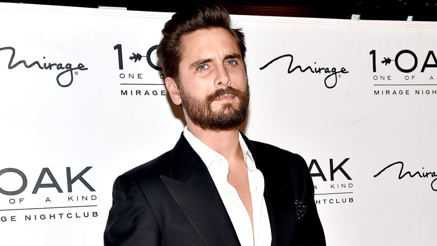 Scott Disick arrives at 1 OAK Nightclub at The Mirage Hotel & Casino to host a New Year's Eve celebration on December 31, 2015 in Las Vegas, Nevada.