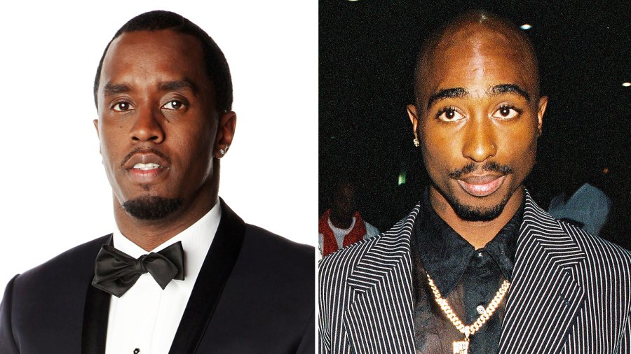 Sean 'Diddy' Combs and Tupac Shakur