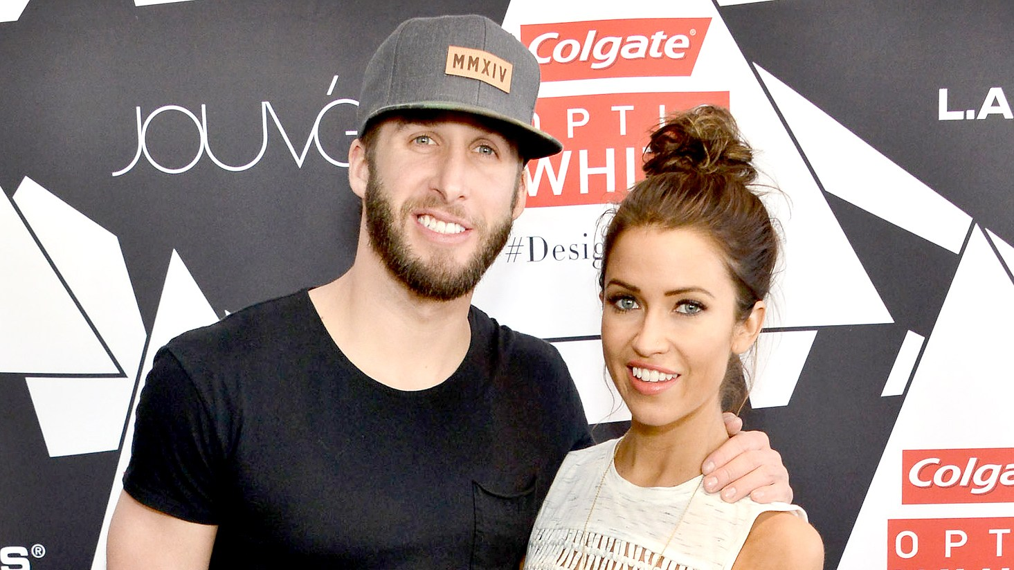 Shawn Booth and Kaitlyn Bristowe attend the Colgate Optic White Beauty Bar Ð Day 1 at Hudson Loft on February 13, 2016 in Los Angeles, California.