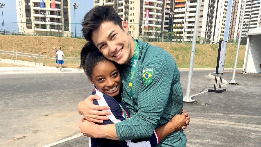 Simone Biles and Arthur Nory Mariano