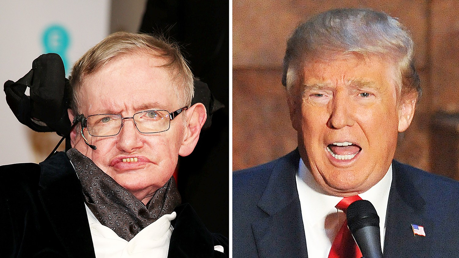 Stephen Hawking and Donald Trump