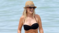 Tamra Judge spends the afternoon at Miami Beach, Florida in 2013.