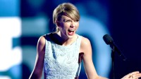 Honoree Taylor Swift accepts the Milestone Award onstage during the 50th Academy Of Country Music Awards at AT&T Stadium on April 19, 2015 in Arlington, Texas.