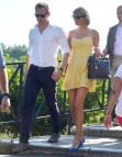 Taylor Swift Yellow Dress Tom Hiddleston
