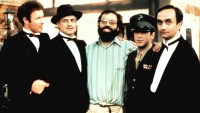 The Godfather's James Caan, Marlon Brando, Francis Ford Coppola, Al Pacino, and John Cazale, 1972