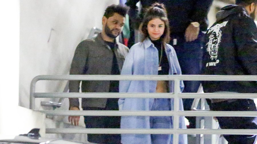 Selena Gomez and The Weeknd enjoy a 4-hour date night at Dave & Buster's in Hollywood.