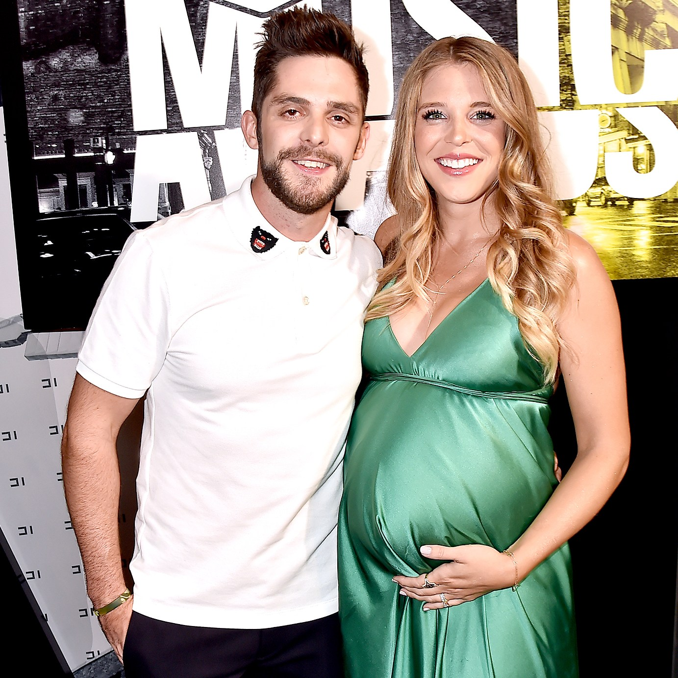 Thomas Rhett and Lauren Gregory (R) attend the 2017 CMT Music Awards at the Music City Center on June 7, 2017 in Nashville, Tennessee.