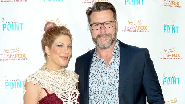 """Tori Spelling and Dean McDermott attend the """"Raising The Bar To End Parkinson's"""" at Laurel Point on July 27, 2016 in Studio City, California."""