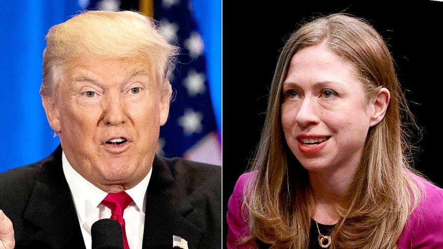 Donald Trump and Chelsea Clinton