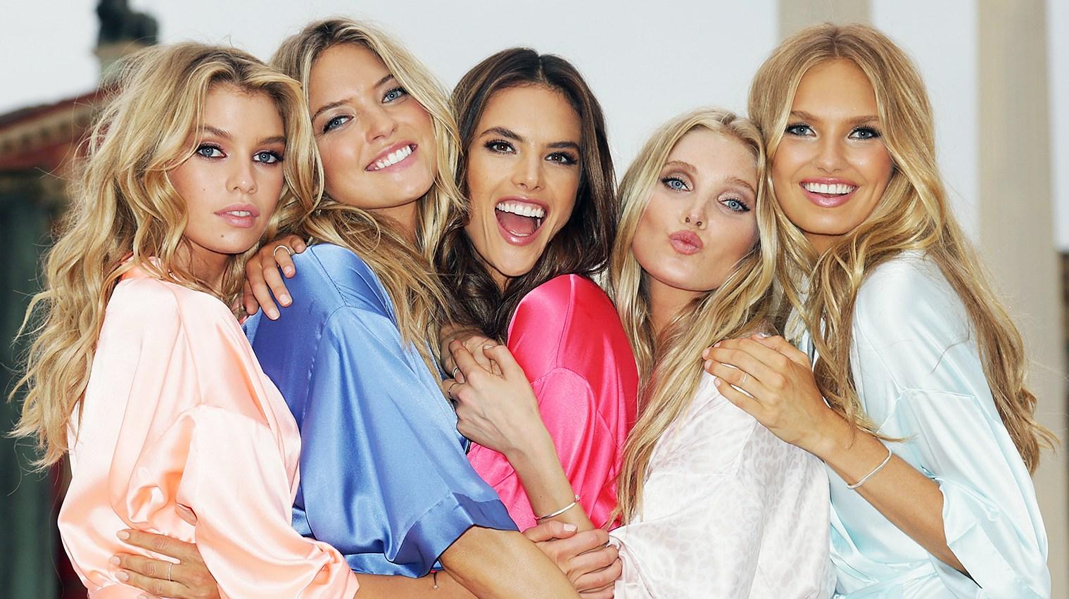 Victoria's Secret Angels Stella Maxwell Martha Hunt Alessandra Ambrosio Elsa Hosk Romee Strijd