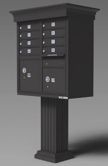 Pedestal Cer Mailbox For New Apartment Complex Development