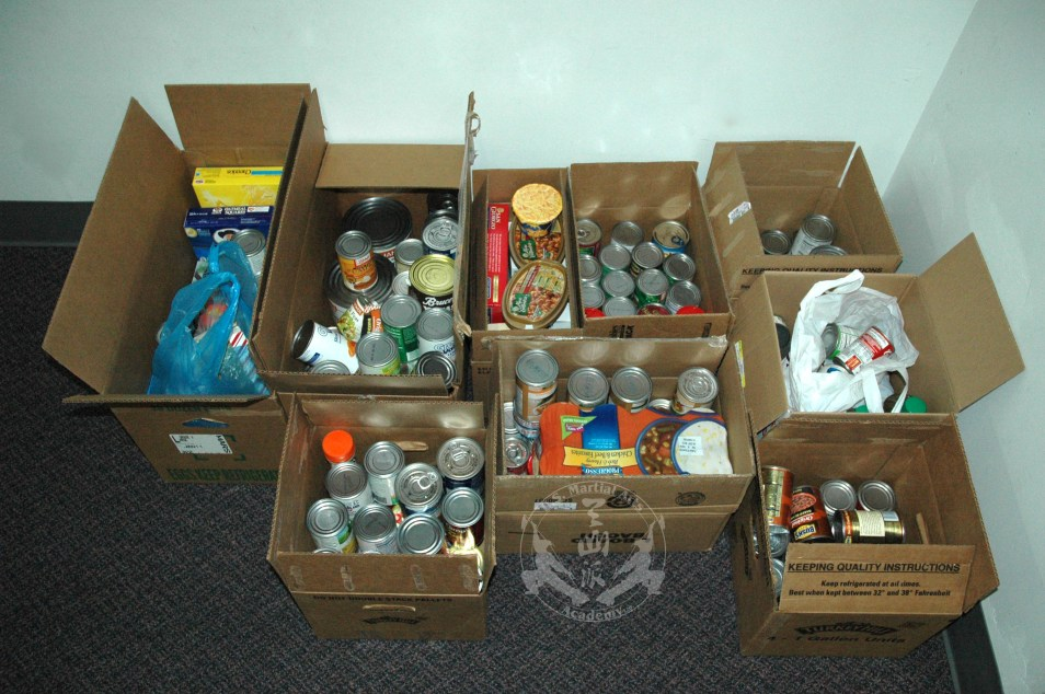 2010 Food Bank Donation from the Black Sash Test and Holiday Collections at U.S. Martial Arts Academy, Ltd.